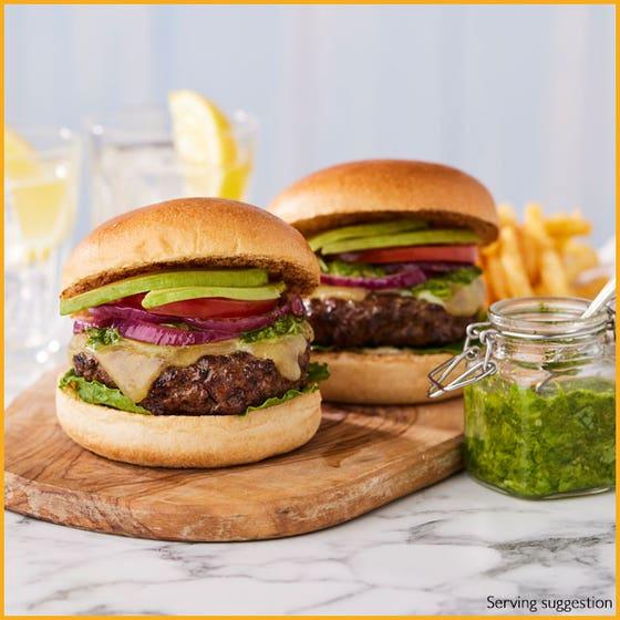 Chimichurri Steak Burgers