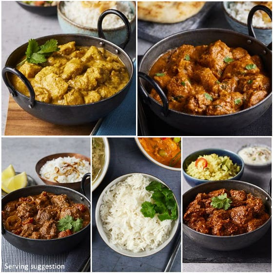 "Indian ""Takeaway"" Feast for 4"