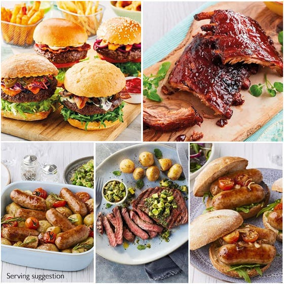 Luxury Barbecue Selection with Ribeye for 4