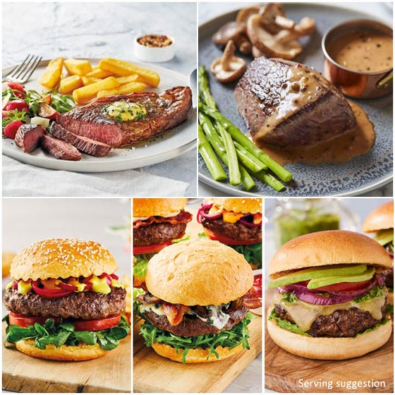 Luxury Barbecue Selection with Steaks