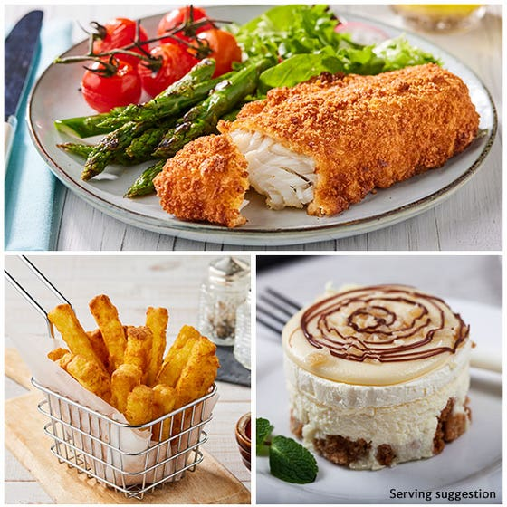 """Breaded Fish & Chip """"Takeaway"""" for 4"""