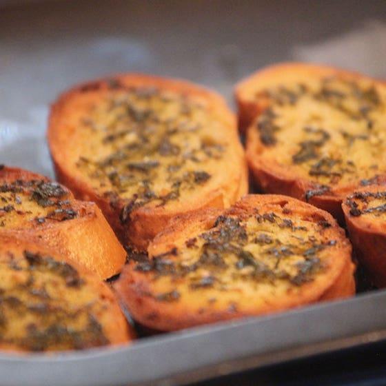 Lasagne Side Dish - Garlic Bread