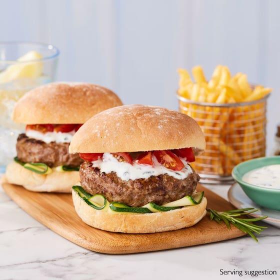 Lamb, Garlic & Rosemary Burgers