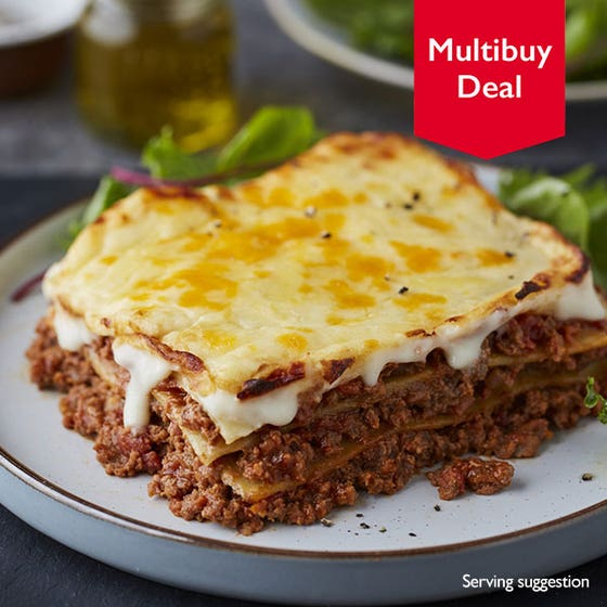 Traditional Beef Lasagne served