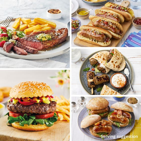 Luxury Barbecue Selection with Sirloin for 4