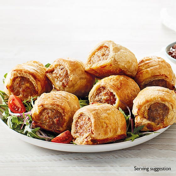 Pork, Porchetta & Smoked Bacon Sausage Rolls