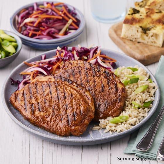 Thin Cut Sweet & Smokey Barbecue Pork Loin Steaks