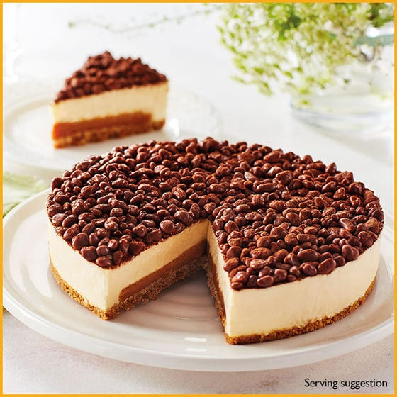 Chocolate Honeycomb & Salted Caramel Cheesecake