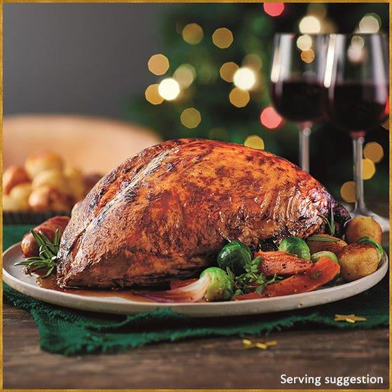 Slow-cooked Turkey Crown in Gravy