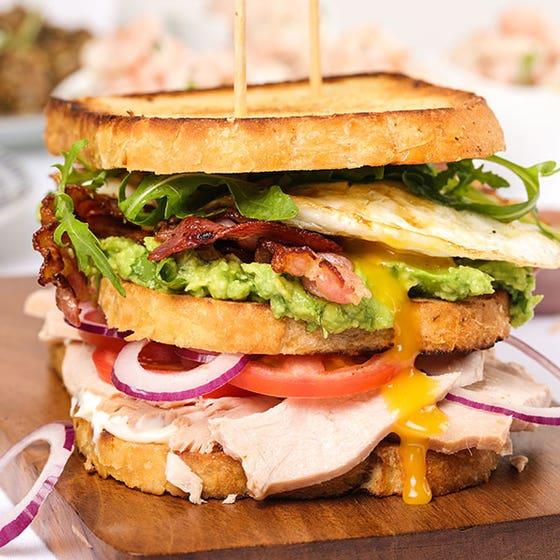 Turkey Club Sandwiches Recipe