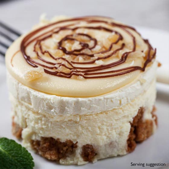 White Chocolate and Ginger Cheesecakes