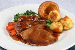 Roast Beef Slices in Gravy