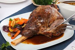 Slow Cooked Lamb Leg