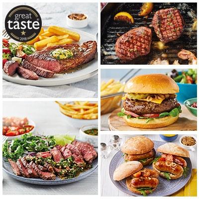 summer steak selection