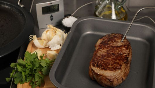 Use a meat thermometer to test internal temperature