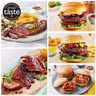luxury barbecue selection with sirloin