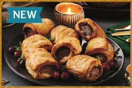 Pork, Smoked Bacon & Cranberry Sausage Rolls