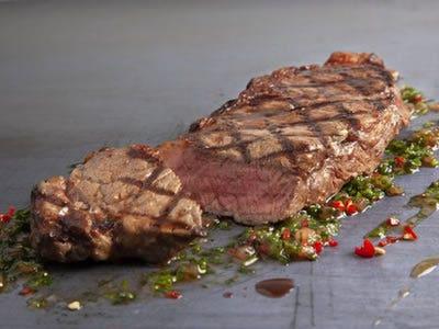Sirloin steak cut