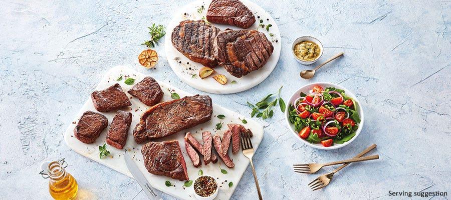 Grass fed British Steaks delivered